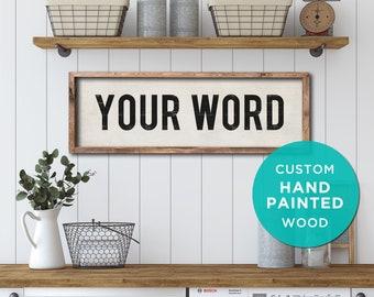 CUSTOM Farmhouse Sign, Hand Painted Wood Sign. Entryway Sign, Vintage Kitchen Sign, Farmhouse Style Decor, Rustic Signs, Beach House Decor.