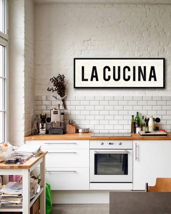 LA CUCINA SIGN Kitchen Sign Italian Kitchen Decor Tuscan | Etsy