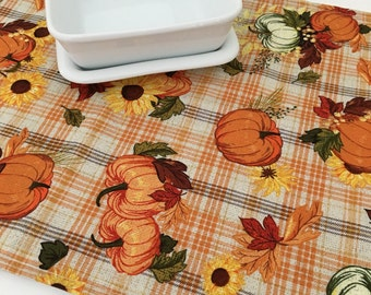 Thanksgiving Table Runner | Pumpkin Table Runner | Thanksgiving Table Decor | Fall Table Runner | Thanksgiving Decoration