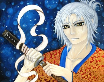 Winter Samurai, WARRIOR, Man, Original, Japan, Historical, Manga by Cary Cameron
