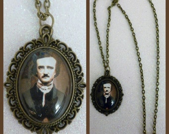 Edgar Allan Poe Inspired Bronze Cameo Necklace