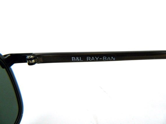 Vintage Authentic Ray Ban Sidestreet Aviators Black Metal Sunglasses B&L W2862 PNAS RX Eyeglasses Mens Womens Original Black Leather Case