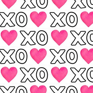 Calligraphy Letters Love Hugs and Kisses Art Gallery Black and White XOXOXO Fabric by the Yard Valentines Day Print by the Half Yard