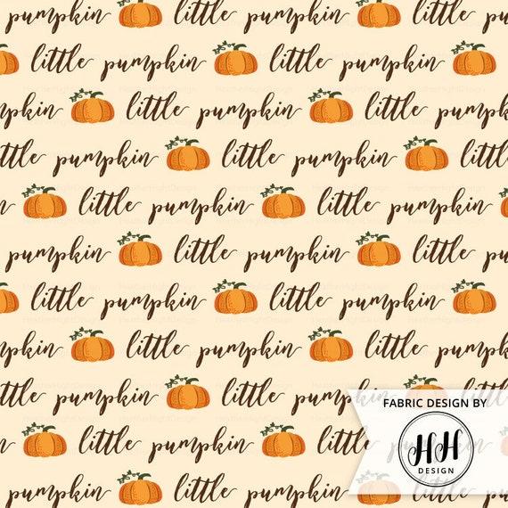 4 Way StretchPer Yard Thanksgiving Floral Pumpkin Print on Poly Spandex Fabric