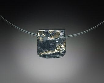 Pyrite in Slate Pendant