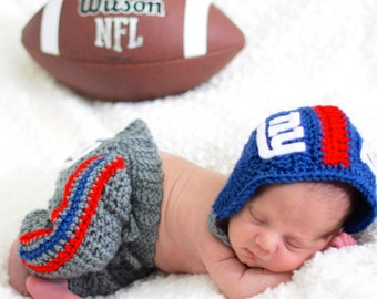 d35ecb772d2 NY Giants Baby - Baby Football Set - Helmet Pants Set - Baby Shower Gift -  Christmas Gift - Newborn Photo Prop