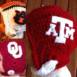 Texas A&M baby, Oklahoma University Sooners baby, Auburn Tigers baby football helmet, college football helmets, football hats
