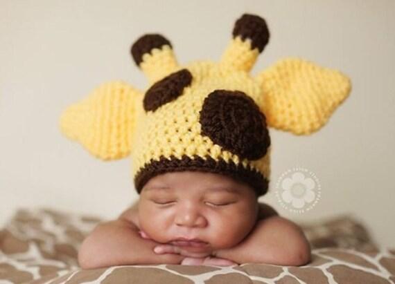 Neugeborenes Baby Giraffe Hut Giraffe häkeln Hut Giraffe | Etsy
