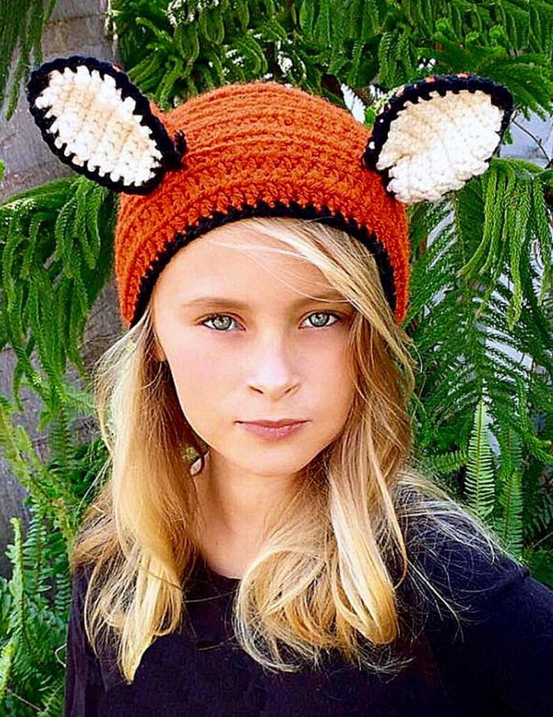 Headband Ear Warmer Christmas Gift Animal Fox Head Warmer Women Girls Fallon The Fox