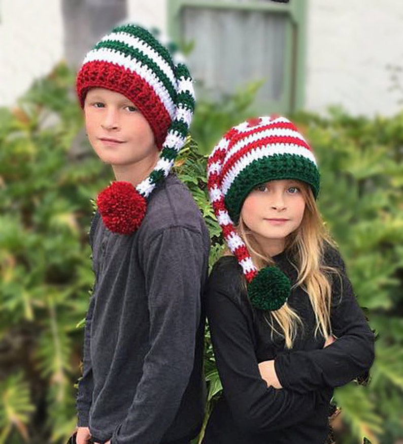 201280ec140 ... knit elf christmas hat holiday hat baby elf hat striped etsy
