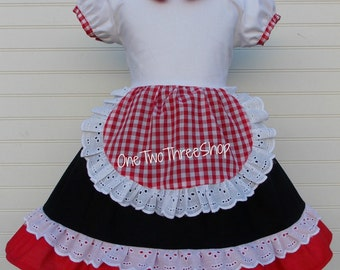 Little Red Riding Hood Costume Dress ONLY Custom Boutique Clothing Sassy Girl