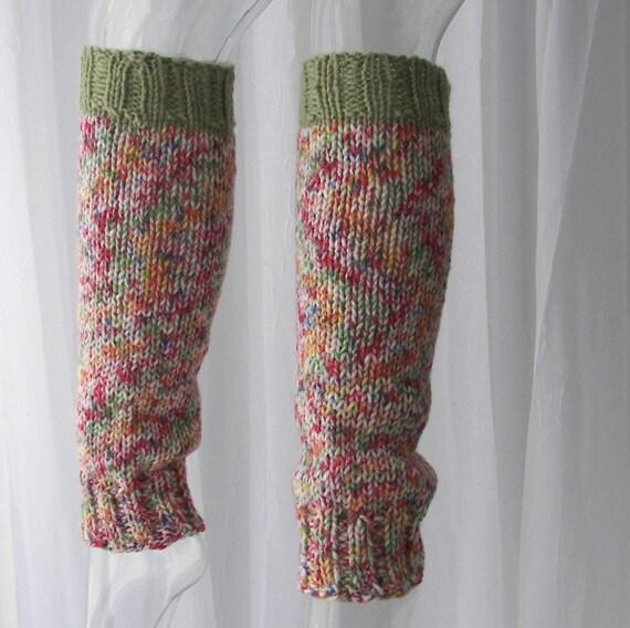 9d4f2346abd Spring Garden  Hand Knit Seamless Leg warmers 100% Vegan