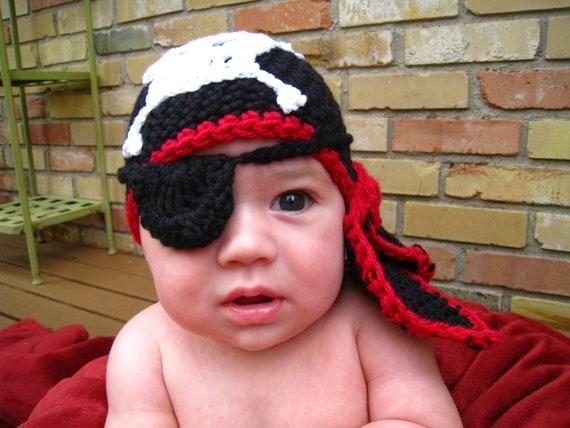 Crochet Pattern Hat Baby Pirate Hat Hat Bandana Eye