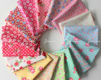 Fat quarter bundle from the 30's fabric collection Spring 2018 by Atsuko Matsuyama for Yuwa - 16 pieces