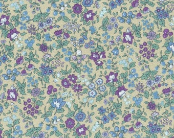 Memoire A Paris 2017 Petite Flowers and Berries in purple 40739L-110 - basic cotton lawn fabric collection by Lecien - New Additions