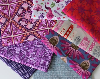 Warm colors Janum curated bundle- 8 fat quarters
