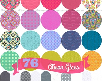 5.95 flat rate shipping- half yard or one yard bundle of Seventy six by Alison glass for Andover Fabrics- 30 pieces