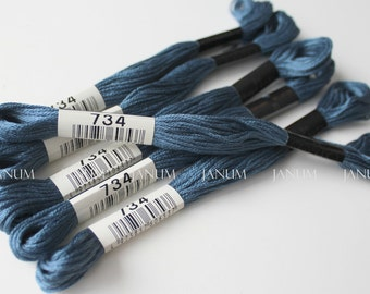 India ink 734 Lecien Cosmo Embroidery thread 6 strand - No.25 floss - 8m