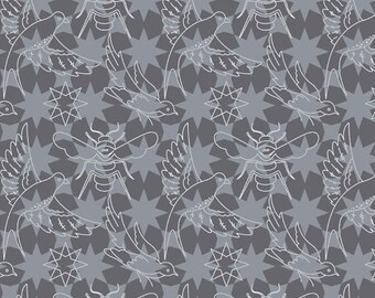 Flourish in Pepper from the seventy six 76 collection by Alison Glass for Andover Fabrics - A-8446-K