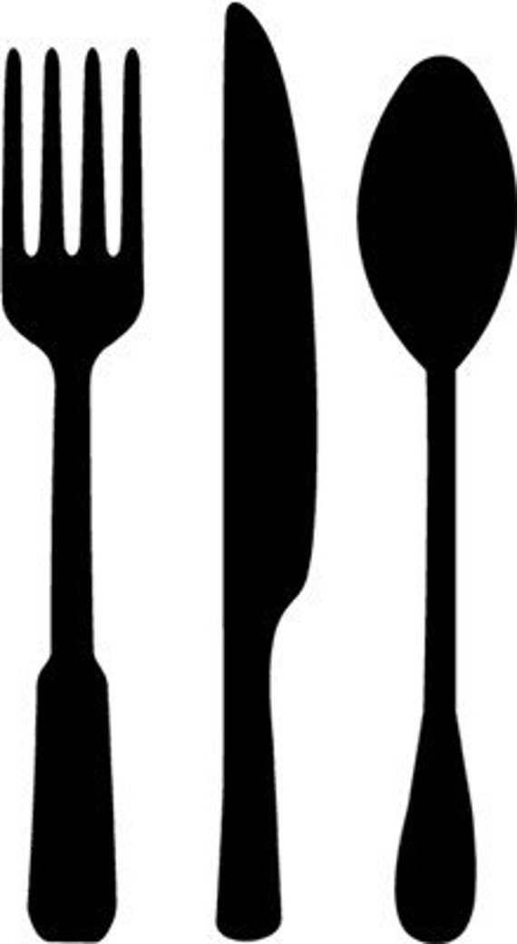 kitchen forks and knives fork spoon knife vinyl wall art graphics lettering etsy 7337