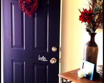 Hello Door Cling - Vinyl Wall Art, Graphics, Lettering, Decals, Stickers