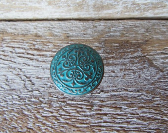 2 Antiqued Copper Knobs for Drawers or Cabinets Pulls for Cabinets Drawers or Furniture You choose Color B-15