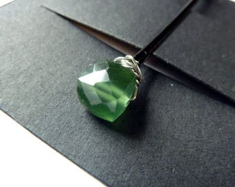 Russian Serpentine Cube Bobby Pin - 8mm Green Stone - Gemstone Bobby Pin