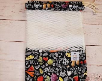 Zero Waste Produce, Drawstring Bags set of 4