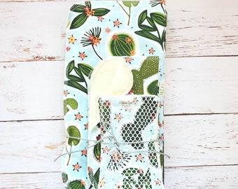 Paperless Cloth Kitchen Set - Unpaper Towels, napkins, unsponge, Zero Waste Bundle