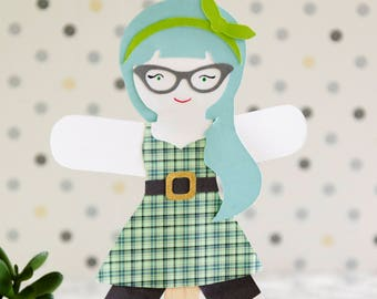 Paper Rockabilly Doll Puppet Craft Kits for Kids and Adults Set of 30