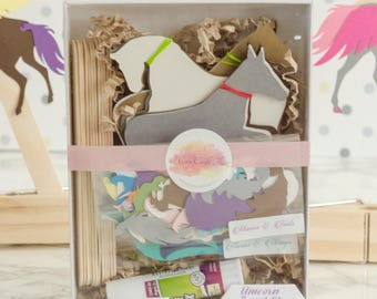 Unicorn Paper Puppet Kit for Kids and Adults Set of 12