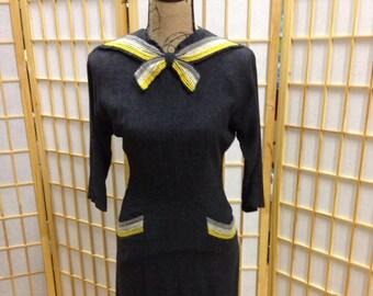 Vintage girls size 14 gray dress