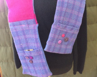 One of a kind wool pocket scarf