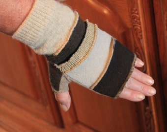 One of a kind fingerless gloves