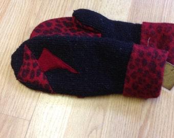Ladies wool sweater mittens