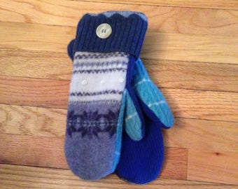 One of a kind ladies sweater mittens