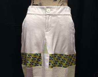 OOAK Ladies size 4 funky upcycled skirt, Coachella ready