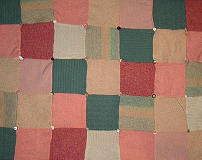 """My """"Three Melons"""" Wool Sweater Quilt — I can make one similar for you!"""