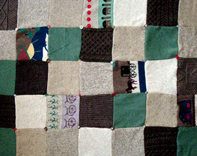 """My """"Amish Country"""" Wool Sweater Quilt — I can make one similar for you!"""