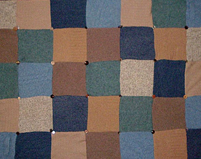 """My """"Gone Sailing"""" Wool Sweater Quilt — I can make one similar for you!"""