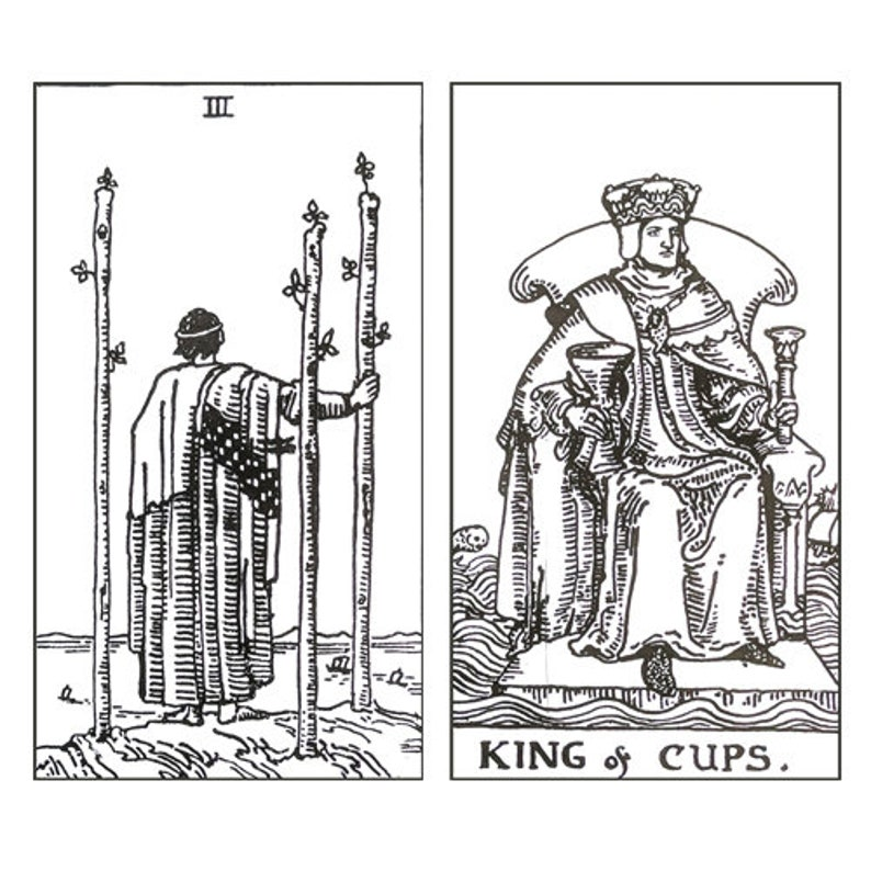 photograph about Printable Tarot Cards to Color known as PDF -Printable, Colour your personal tarot deck 56 small arcana Instantaneous Down load