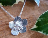 Rose flower pendant with ...