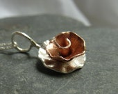 Peony Rose flower pendant...