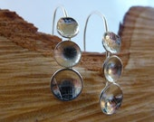 Domed cup drop earrings: ...