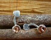 Copper rose and sterling ...