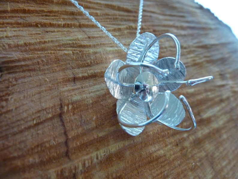 Passion Flower Pendant: Handmade Sterling Silver image 0
