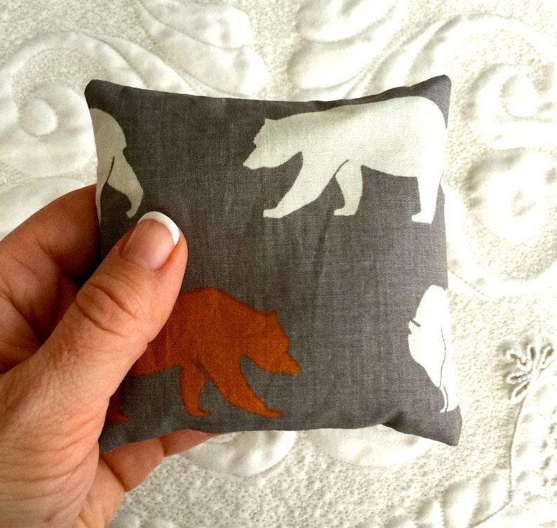 Balsam Fir Sachet with Organic Cotton fabric  Bears image 0