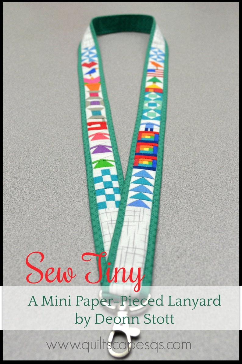Sew Tiny Lanyard Pattern with Swivel Hook image 0