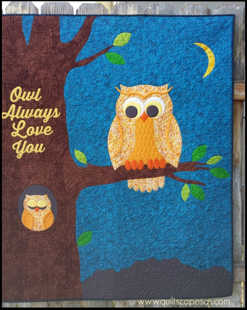 Owl Always Love You DIGITAL Quilt Pattern image 0