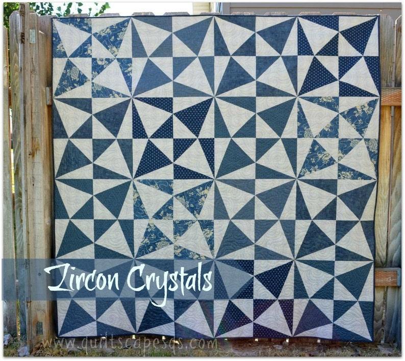 Zircon Crystals DIGITAL Quilt Pattern image 0